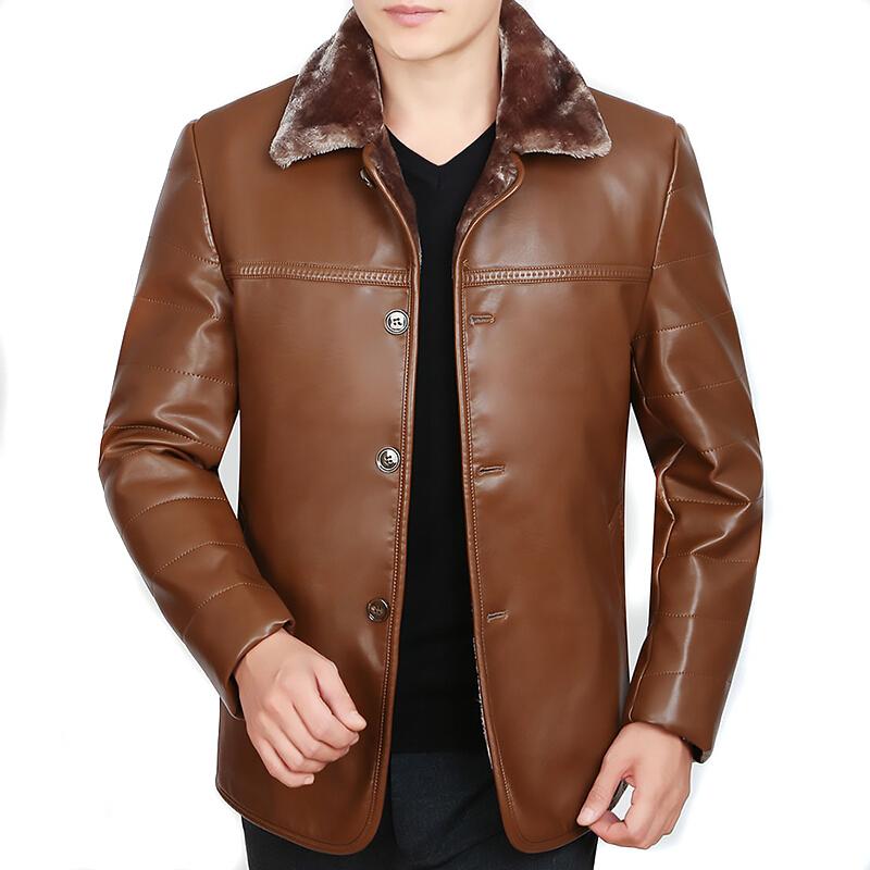 秋冬季新款男装中年男士真皮皮衣夹克皮毛一体绵羊皮外套 一般在付款后3-90天左右发货,具体发货时间请以与客服协商的时间为准