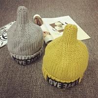 儿童毛线帽冬季保暖护耳秋天套头帽针织帽男女童宝宝帽子加厚时尚
