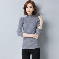 半高领羊毛衫女20秋冬季新款黑色短款套头百搭韩版打底毛衣长袖