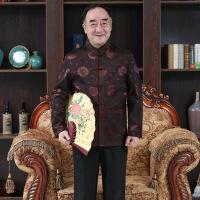 中国风夹克男士中老年秋冬季立领中式唐装休闲长袖大码爸爸装外套