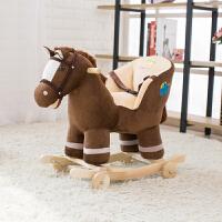宝宝礼物摇椅实木两用摇摇车儿童玩具音乐木马