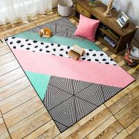 北欧风客厅沙发茶几地毯 简约现代公主房卧室床边毯可爱家用地垫