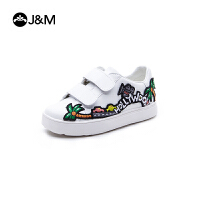 jm快乐玛丽秋季新款设计师涂鸦休闲亲子鞋魔术贴儿童鞋