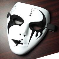 面具 发光男化妆舞会装饰道具 仇杀队恐怖街舞V字面具