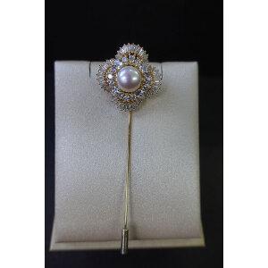 淡水珍珠胸针1