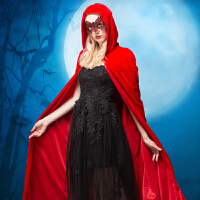 万圣节服装巫师死神黑袍恐怖吸血鬼斗篷大人披风表演衣服演出道具