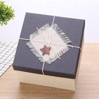 �Y品盒定制正方形�Y品盒大��Y物包�b盒超大伴手�Y�Y物盒生日*盒包�b盒子012