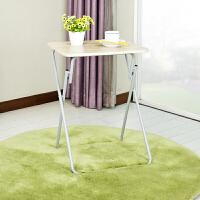 【当当自营】阿栗坞 方桌 简约折叠方桌 小餐桌 桌子 折叠桌 方桌 3D木纹色 2050