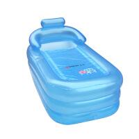超大充气浴缸儿童加厚保温 成人浴盆洗澡桶泡澡桶四季适用安全健康环保更贴心