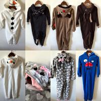 辰妈家。儿童珊瑚绒睡衣连体家居服 男女童宝宝卡通造型衣睡衣