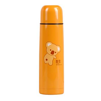 【当当自营】喜多 不锈钢安全保温瓶500ml 桔色 保温杯/杯子/保温壶/水壶/水杯/吸管杯