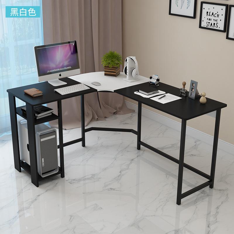 【1件3折 领券】环保耐磨钢木书桌转角书桌电脑桌 家用台式办公桌简易双人写字台 支持* 标准烤漆 安装超简单