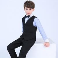 小主持人钢琴演出服男童花童中大童春夏儿童礼服男孩西装马甲套装