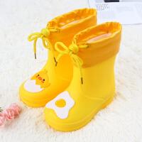 �和�雨鞋防滑幼�����雨靴�p便男童女童收口小童小孩水鞋