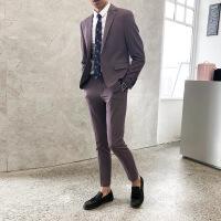 西服套装男韩版修身潮流英伦风男士商务正小西装青年