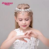 儿童头饰公主额饰头链女孩发饰发卡花童礼服配饰皇冠吊坠