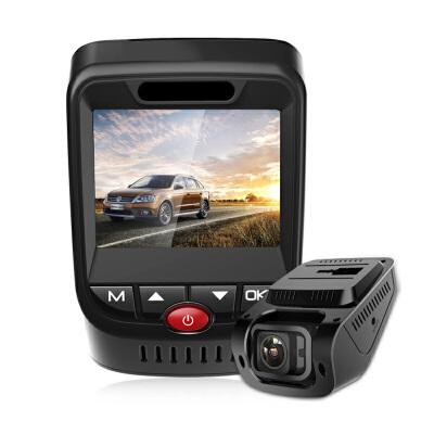 隐藏式行车记录仪双镜头高清夜视带电子狗测速三合一一体机