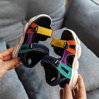 儿童凉鞋男夏季男童沙滩鞋男孩鞋子软底小童宝宝鞋