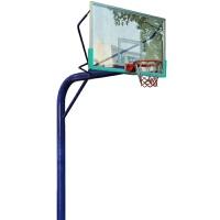 户外篮球架 标准移动地埋式独臂篮球架固定式圆管室外篮球架