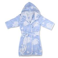 婴儿浴袍 带帽儿童男孩春秋女女孩男纱布睡袍 宝宝薄款.