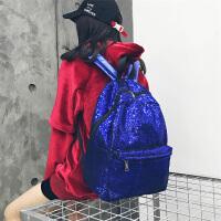 亮片双肩背包韩版新款时尚街头潮流大容量旅行街拍书包 高中学生