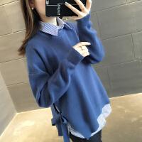 【下单立减120元 仅限今日】套头针织衫两件套韩版2019新款很仙的毛衣女洋气上衣宽松打底装