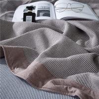 日式包边华夫格全棉毛巾被单双人毯子夏季单人薄纯棉毛巾毯空调毯