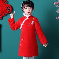 儿童旗袍秋冬季汉服女童长袖中国风唐装