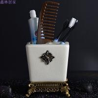 欧式卫浴陶瓷牙刷杯浴室日用收纳用品洗漱刷牙杯套件