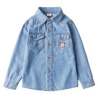童装男童牛仔衬衫春秋季儿童中大童长袖衬衣