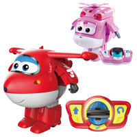 奥迪双钻超级飞侠玩具儿童飞机遥控乐迪变形机器人大号小爱套装