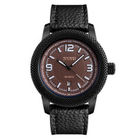 商务男士防水大表盘石英手表潮流指针男表个性前卫设计腕表