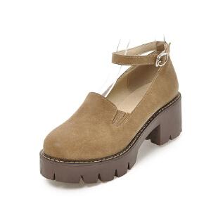 O'SHELL法国欧希尔新品099-M-1韩版超纤皮高跟女士单鞋