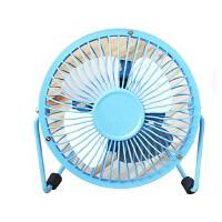 普润 usb迷你风扇静音4寸小风扇 USB桌面散热风扇电风扇 蓝色