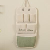 棉麻布艺收纳挂袋储物袋宿舍墙上收纳袋门后挂兜简约挂式置物袋