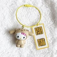 两件kt猫钥匙扣凯蒂猫变身文字钥匙链女汽车挂少女件饰可爱