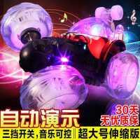 翻滚特技车儿童玩具车男孩4岁充电动遥控车越野小汽车变形翻斗车
