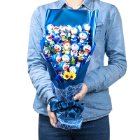 哆啦A梦手办叮当猫蓝胖子公仔手办礼盒创意圣诞情人节毕业礼物