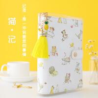 猫记A6活页手账本套装创意小清新学生用手帐本笔记本韩国日程本