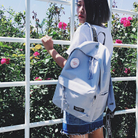 书包女中学生韩版 校园原宿ulzzang背包简约百搭帆布学院风双肩包