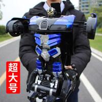 感应遥控车金刚机器人遥控变形汽车充电动男孩赛车儿童玩具车礼物