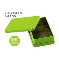 茶叶罐马口铁盒小号旅行便携迷你茶叶礼盒装空盒茶叶盒子包装盒 迷你小盒 翠绿色