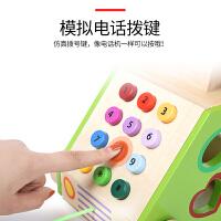 电话女生3-6岁男孩礼物宝宝1-2周岁儿童过家家玩具超市收银台