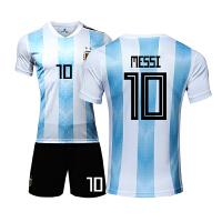 阿根廷球衣2018国家队服梅西球衣儿童比赛足球服套装定制印号