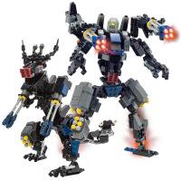 维莱 古迪积木拼装变形机器人恐龙金刚益智6-12岁男孩玩具299片