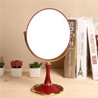 随身化妆镜 8英寸大号台式双面镜子欧式便携放大结婚梳妆镜椭圆形