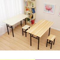 简易折叠桌长方形培训桌摆摊桌户外学习书桌会议长条桌餐桌加固桌