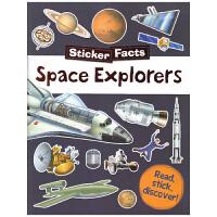 Sticker Facts Space Explorers 儿童百科贴纸活动书 宇宙太空书籍科普类游戏书 英文原版进口