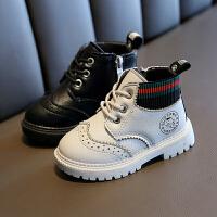 男童马丁靴冬季儿童棉靴短靴英伦风皮靴子