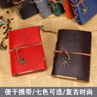 旅行记事本复古海盗本活页笔记本手账本活页本航海本子日记本文具